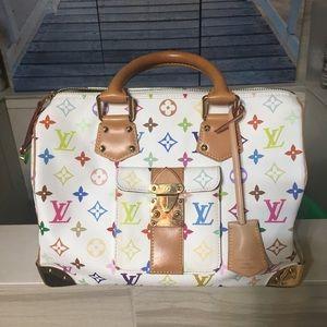 Handbags - Authentic Louis Vuitton multicolor speedy 30